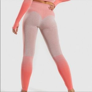 Amplify Seamless Leggings Taupe Marl/ Peach Coral